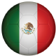 Mexico Football Flag 25mm Flat Back